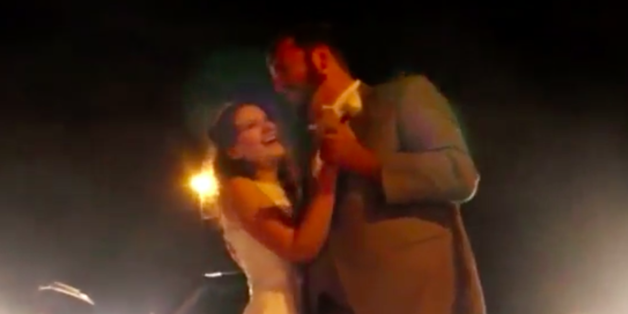 Wedded couple stuck in traffic take first dance on highway - Why you shouldnt take the trash out at night ...